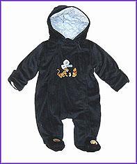 Winnie Heavy Fleece Snowsuit-Navy