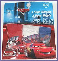 Cars 3 Pack Brief