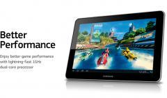 Galaxy Tab 10.1 (3G + WiFi version) Tabletes