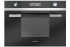 Smeg Built In Linea Compact Black Microwave Oven With Grill