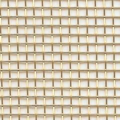 Brass wire mesh for decorative screens