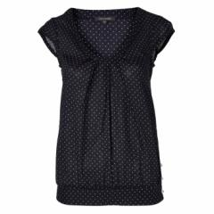 Emily and Fin Navy Polkadot Rosie Top