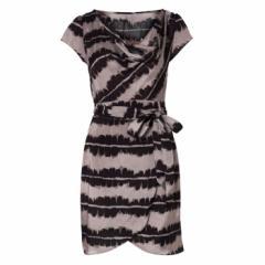 Brush Print Wrap Dress