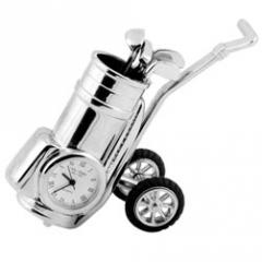 Miniature Alarm Clock Golf Trolley