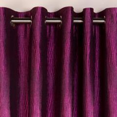 Ripple Eyelet Cerise Pink Curtain