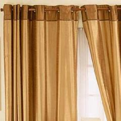 Ochi Eyelet Gold Curtain
