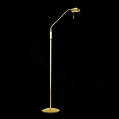 Action Twin Brass Matt Adjustable Floor Lamp