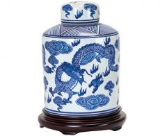 Porcelain Dragon Tea Caddy
