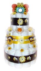 Bumble Bee 3 Tier Nappy Cake