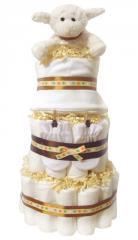 Neutral 3 Tier Nappy Cake