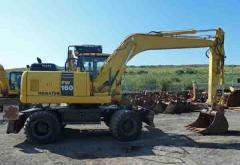 Wheeled excavator Komatsu PW160-7 EO 2007