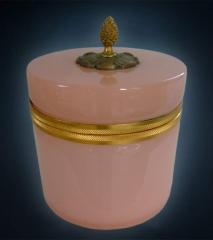 Antique French Opaline Glass Casket