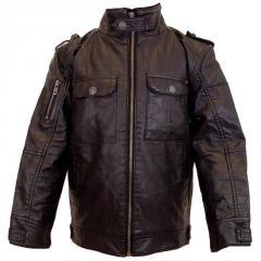Leather Look 'Biker' Jacket