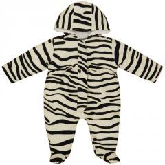 Minx Zebra Print Snowsuit Black & White 0-24 Months