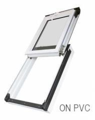 ON PVC R3 02 size: 55 x 98cm Top Hinged PVC roof window OKPOL