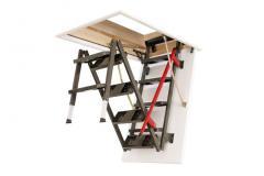 Fakro LML Lux Metal Loft Ladder 60x120cm H231-280cm - Loft Ladders