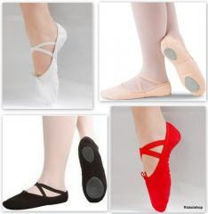 Canvas Ballet Shoes Slippers Red Pink Black White