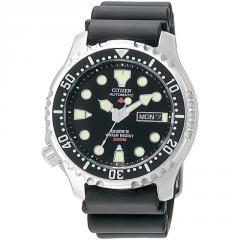 Citizen Automatic Men's Black Divers Watch NY0040-09EE