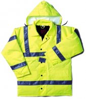 Hi-Vis Quilted Jacket (PU-coated)