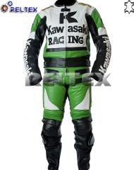 Kawasaki Ninja Green Racing Motorcycle 2 Piece Suit