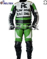 Kawasaki Ninja Green Racing Motorcycle 2 Piece Suit