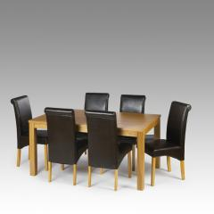 Astoria Oak Dining Set with Havana Chairs