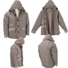 Wholesale Mens Fur Trim Hooded Winter Jacket