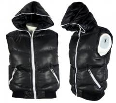 Wholesale Mens Hooded Gilet Bodywarmer Sleeveless Zip Jacket