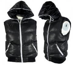 Wholesale Mens Hooded Gilet Bodywarmer Sleeveless Zip Jacket