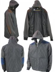 Wholesale Mens Hooded Fleece Sleeve Jacket