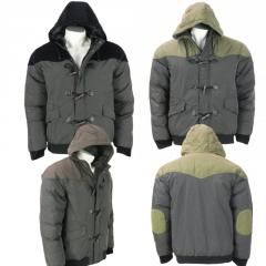 Wholesale Mens Hooded Bomber Padded Winter Jacket