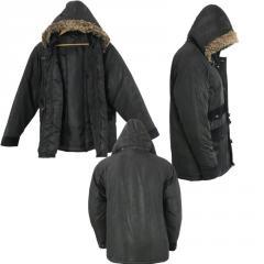 Wholesale Mens Fur Hooded Warm Winter Jacket