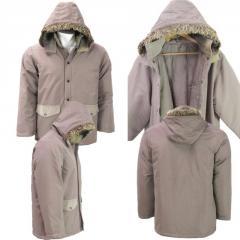 Wholesale Mens Fur Trim Hooded Winter Jacket
