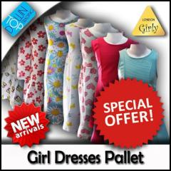 Girls Different Styles Dresses Pallet 100% Cotton