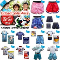 Childrens Sets Summer Clothing Container - £0.85 ONLY + NO VAT