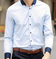 Grandad Collar Mens Shirt