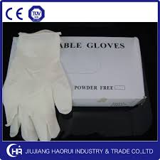Pre-Powdered Latex Examination Glove (Size: