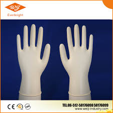 Non sterile disposable latex medical gloves