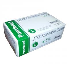 Powder-free latex examination gloves