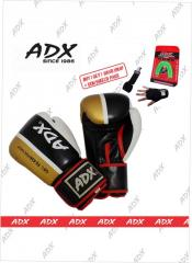 "ADX® Blinde X ""Molded Silicone Gel tech"" PU training/sparring Boxing Gloves"