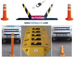 Parking post lock, Folding Collapsible parking posts with integrated lock system  Platform Base Plate 5 mm Thickness