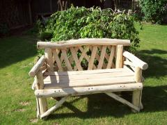 The 2 seat Bekesbourne Rustic Style Garden Bench