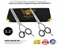 Focus World Uk® - Professional Hairdressing Barber Hair Cutting Thinning Scissors Set 5.5