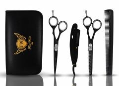 FW®- Professional Barber Scissors Set Hair Cutting Thinning Gold Shears 6.5