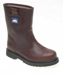Brown Full Grain Leather Goodyear Welted Safety