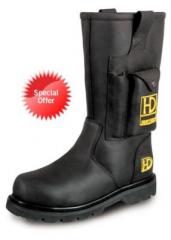 Oiled Leather Rigger Boots