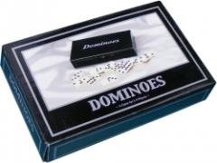 Quality Dominoes in Black Wooden Case