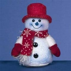 Premier Battery Operated Snowman 14cm Christmas