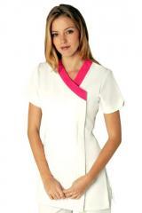 Gloss White & Hot-pink Tunic