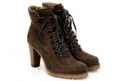 Brown High Heel Hiker Ankle Boot